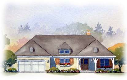 4 Bed, 3 Bath, 2467 Square Foot House Plan - #1637-00046