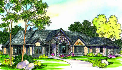 3 Bed, 3 Bath, 2927 Square Foot House Plan - #035-00237