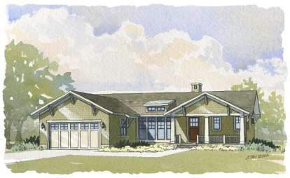 4 Bed, 3 Bath, 3134 Square Foot House Plan - #1637-00061