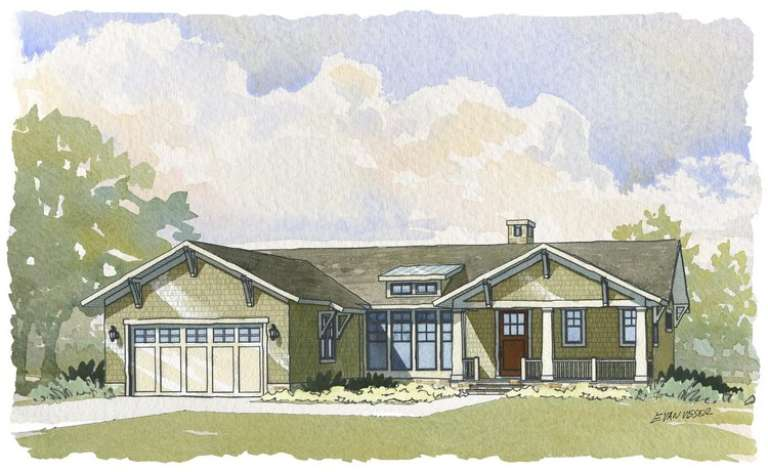 Country House Plan #1637-00061 Elevation Photo
