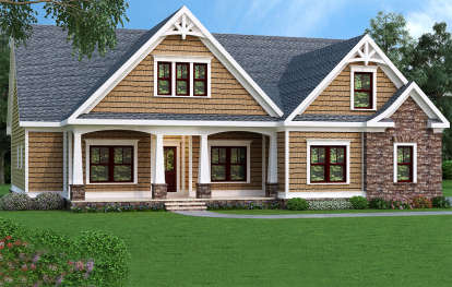 3 Bed, 2 Bath, 1946 Square Foot House Plan #009-00072