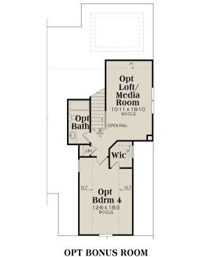 Second Floor for House Plan #009-00072