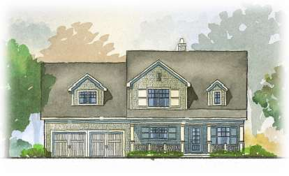 4 Bed, 3 Bath, 3148 Square Foot House Plan - #1637-00077