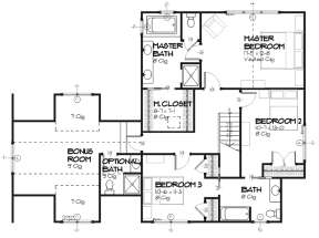 Upper for House Plan #1637-00080