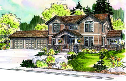 4 Bed, 3 Bath, 3568 Square Foot House Plan - #035-00241