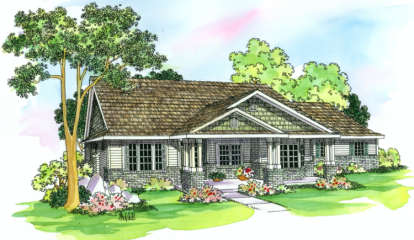 4 Bed, 3 Bath, 2591 Square Foot House Plan - #035-00243