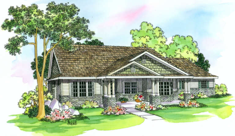 Country House Plan #035-00243 Elevation Photo