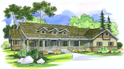 3 Bed, 2 Bath, 3141 Square Foot House Plan - #035-00245