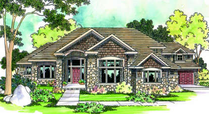 3 Bed, 3 Bath, 4184 Square Foot House Plan - #035-00246