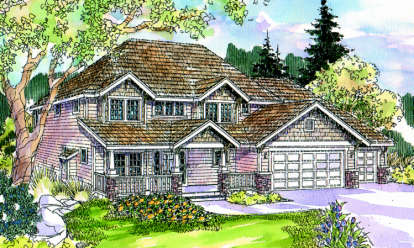 4 Bed, 2 Bath, 2768 Square Foot House Plan - #035-00248