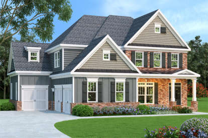 5 Bed, 5 Bath, 3191 Square Foot House Plan - #009-00073