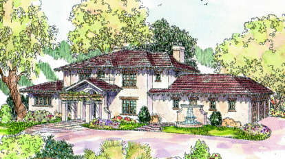 5 Bed, 4 Bath, 4376 Square Foot House Plan - #035-00249