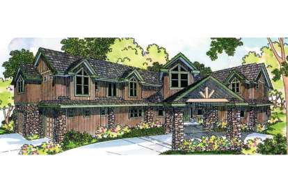 4 Bed, 5 Bath, 5640 Square Foot House Plan - #035-00250