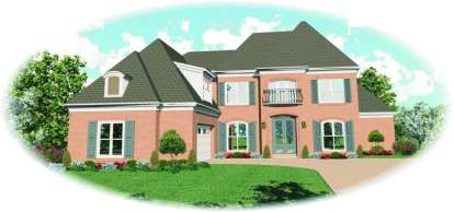4 Bed, 4 Bath, 3833 Square Foot House Plan - #053-01429