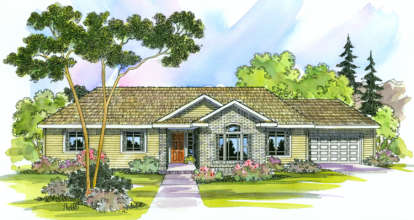 4 Bed, 2 Bath, 2086 Square Foot House Plan - #035-00252