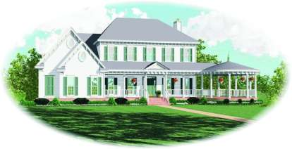 4 Bed, 4 Bath, 3546 Square Foot House Plan - #053-01462