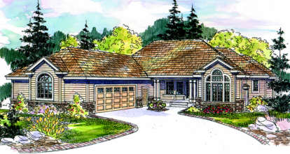 3 Bed, 3 Bath, 3026 Square Foot House Plan - #035-00254