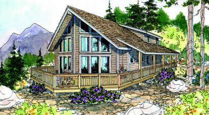 3 Bed, 2 Bath, 1844 Square Foot House Plan - #035-00255