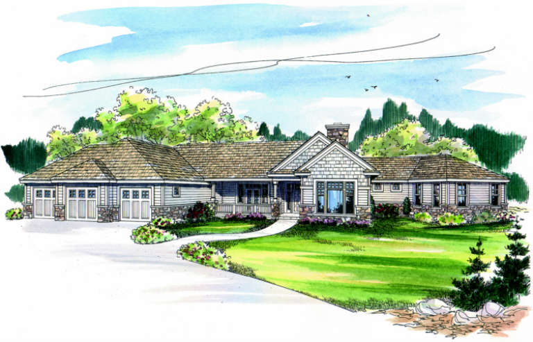 Traditional House Plan #035-00257 Elevation Photo