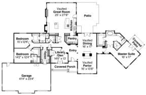 Floorplan for House Plan #035-00257