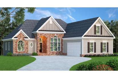 4 Bed, 2 Bath, 2068 Square Foot House Plan - #009-00074