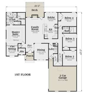 Main Floor for House Plan #009-00074