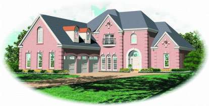 3 Bed, 3 Bath, 3397 Square Foot House Plan - #053-01524