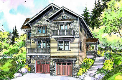 4 Bed, 2 Bath, 2559 Square Foot House Plan - #035-00260