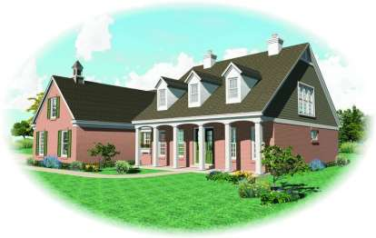 3 Bed, 2 Bath, 2323 Square Foot House Plan - #053-01530