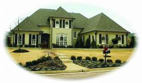 Traditional House Plan #053-01539 Elevation Photo