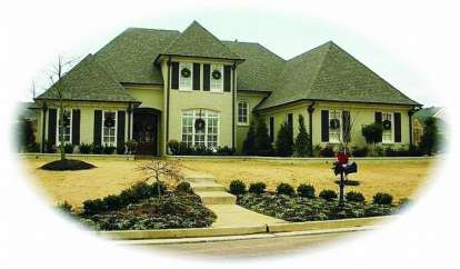 5 Bed, 3 Bath, 3855 Square Foot House Plan - #053-01539