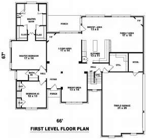 Floorplan 1 for House Plan #053-01539