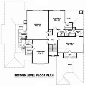 Floorplan 2 for House Plan #053-01539
