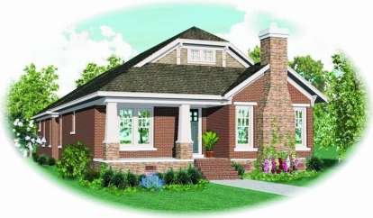 2 Bed, 2 Bath, 2348 Square Foot House Plan - #053-01541