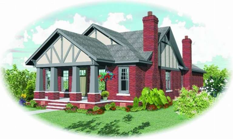 Craftsman House Plan #053-01542 Elevation Photo