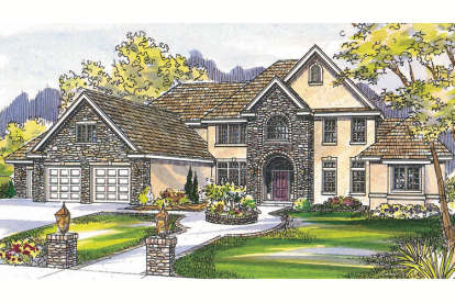 4 Bed, 3 Bath, 5725 Square Foot House Plan - #035-00264