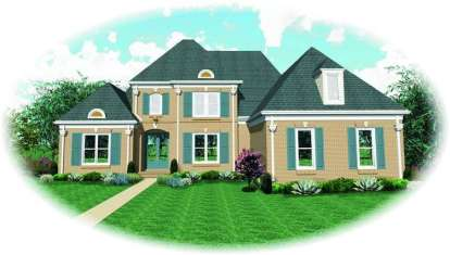 4 Bed, 3 Bath, 3609 Square Foot House Plan - #053-01607