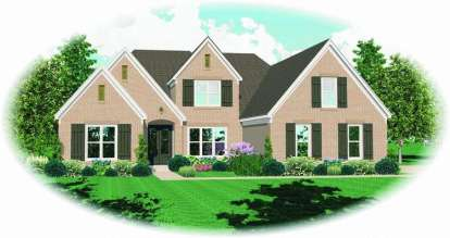 4 Bed, 3 Bath, 3616 Square Foot House Plan - #053-01608