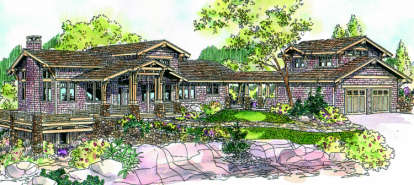 3 Bed, 3 Bath, 3435 Square Foot House Plan - #035-00270