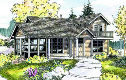 1 Bed, 1 Bath, 1246 Square Foot House Plan - #035-00271