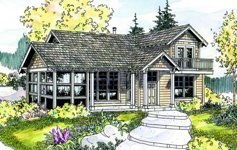 Cabin House Plan #035-00271 Elevation Photo