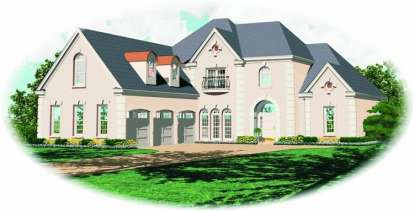 4 Bed, 3 Bath, 3583 Square Foot House Plan - #053-01637