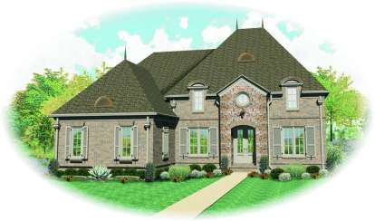 5 Bed, 4 Bath, 3783 Square Foot House Plan - #053-01649
