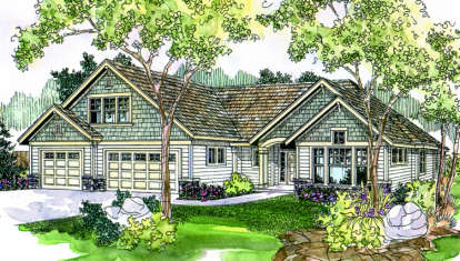 3 Bed, 2 Bath, 2875 Square Foot House Plan - #035-00275