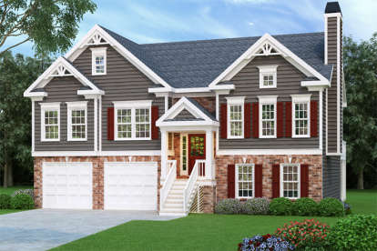 3 Bed, 2 Bath, 1678 Square Foot House Plan - #009-00076