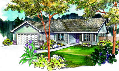 3 Bed, 2 Bath, 1593 Square Foot House Plan - #035-00281