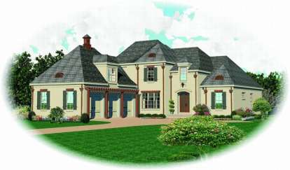 3 Bed, 4 Bath, 3843 Square Foot House Plan - #053-01757