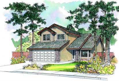 3 Bed, 2 Bath, 1527 Square Foot House Plan - #035-00284