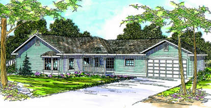 3 Bed, 2 Bath, 1850 Square Foot House Plan - #035-00285
