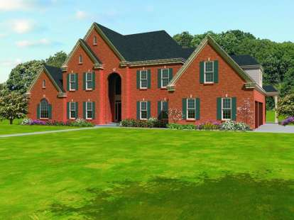 5 Bed, 4 Bath, 4729 Square Foot House Plan - #053-01780